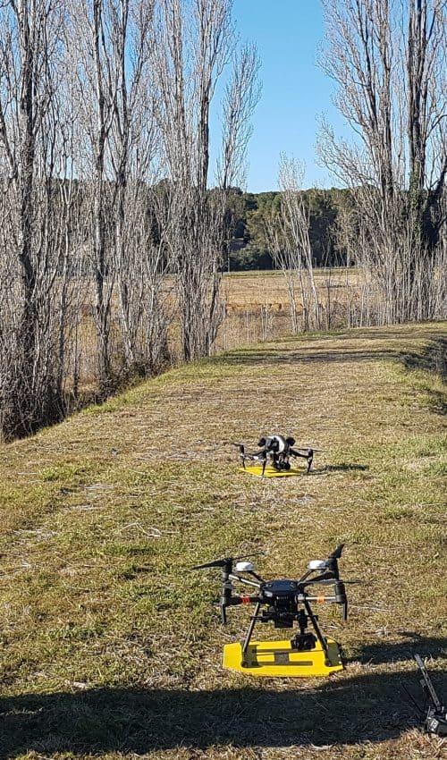 drone en thermographie qui s'apprête à voler