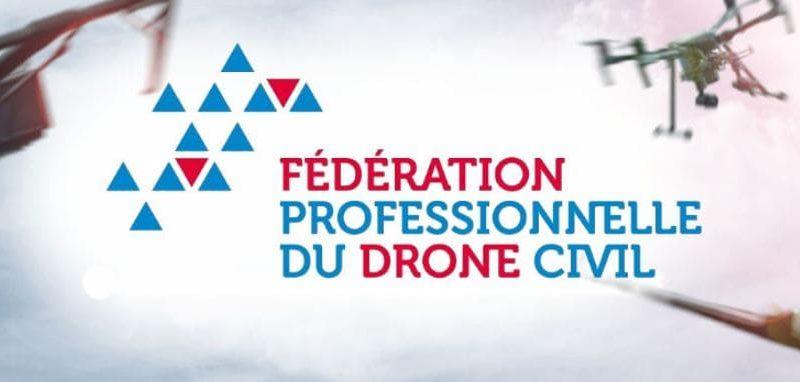 logo de la fpdc avec des drones autour de lui