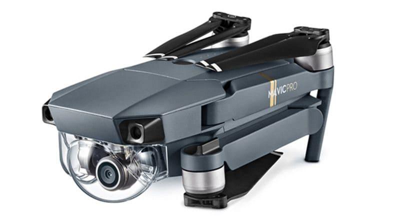 présentation du drone mavic pro avec capteur 1/2.3 à l'arrêt