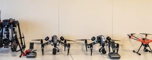 4 drones en présentations