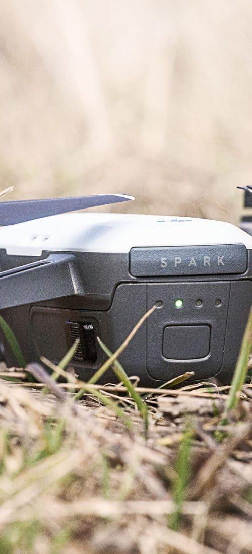 drone mavic poser au sol